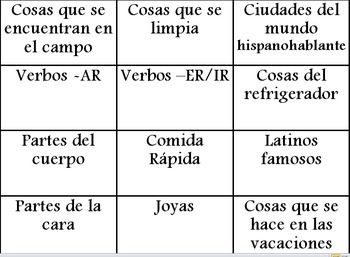 Fun Vocabulary Review Games for Spanish (all levels)