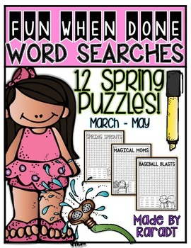 Fun-When-Done Word Searches {Spring Puzzles}