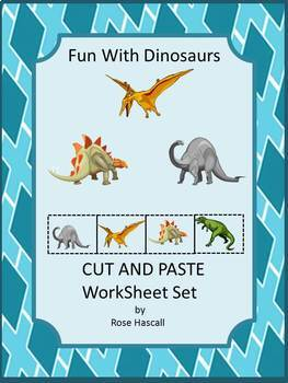Dinosaurs Thematic Unit Kindergarten Math & Literacy Cut &