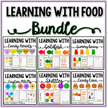 Fun With Food Activity Pack Bundle - Graphing, Sorting, Pa