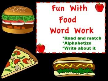 Fun With Food Word Work