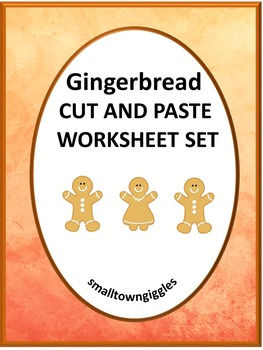 Gingerbread Man Math & Literacy Christmas Cut and Paste No