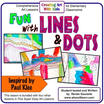 Art Lesson - Fun With Lines and Dots - Inspired by Paul Klee