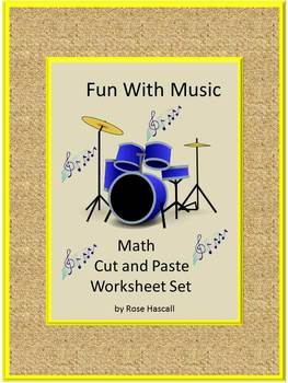 NO PREP Music Math Cut and Paste Math & Literacy Center Ac