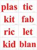 Syllables Closed VCCV Fluency Practice w Flash Cards & Fun