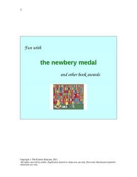 Fun With THE NEWBERY MEDAL and Other Book Awards