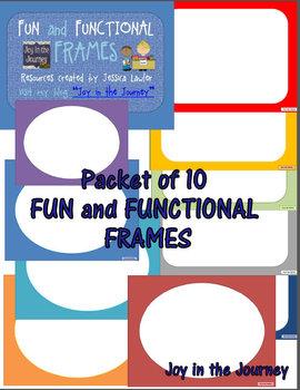 Fun and Functional Frames FREEBIE!