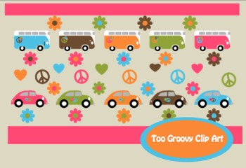 Fun and Groovy Clip Art for Personal and Commercial Use **