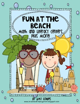 Fun at the Beach Math and Literacy Centers Plus More!