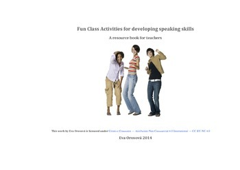 Fun class activities for developing speaking skills
