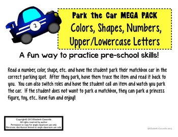 Fun color, shape, number, and letter identification game: