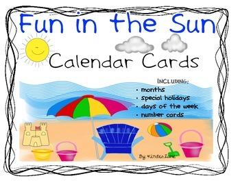Fun in the Sun Classroom Calendar Set