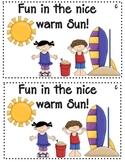 Fun in the Sun Emergent Reader Level c