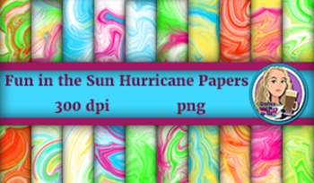 Fun in the Sun Hurricane Digital Papers