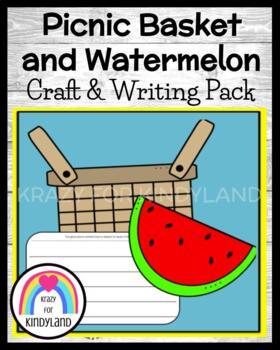 Summer / Beach Craft and Writing: Picnic Basket & Watermelon