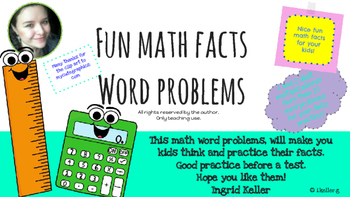 Fun math facts with word problems!