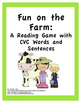 Fun on the Farm: A Reading Game with CVC Words and Sentences