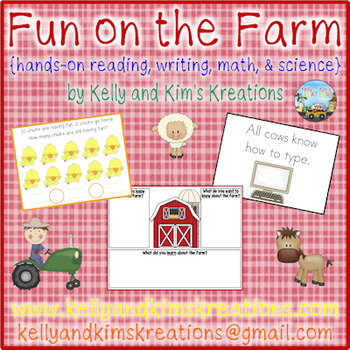 Fun on the Farm {hands-on reading, writing, math, & science}