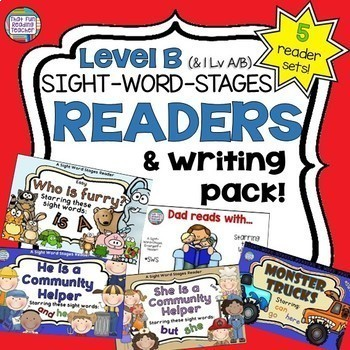 Leveled Sight Word Readers - Sight Word Practice Pack