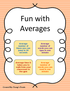 Fun with Averages