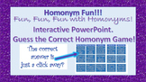 Fun with Homonyms! Interactive PPT. for Smart boards!