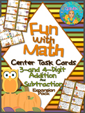 Fun with Math 3-4 Digit Addition and Subtraction Task Card