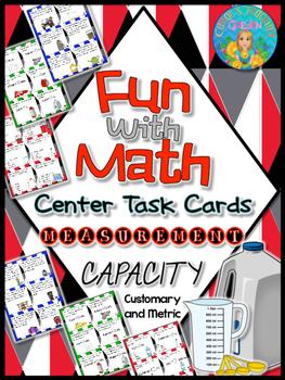 Fun with Math Center Task Cards Measurement Capacity Custo