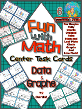 Fun with Math Data and Graphs Center Task Cards Common Cor