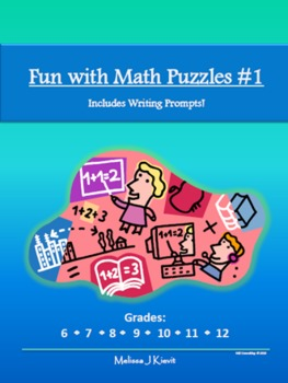 Fun with Math Puzzles #1 (Includes Writing Prompts!): 25 P