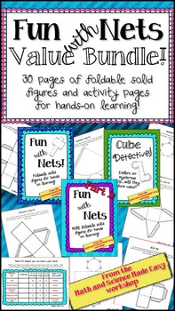 Fun with Nets Bundle!  Foldable 3D shapes for teaching geo