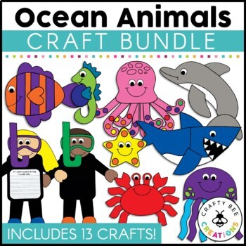 Ocean Animals Cut and Paste Set