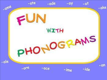 Fun with Phonograms Word Families Smartboard