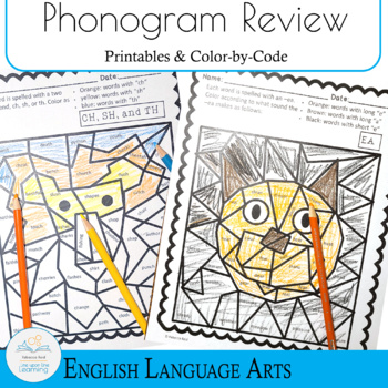 Fun with Phonograms Color-by-phonogram and more printables
