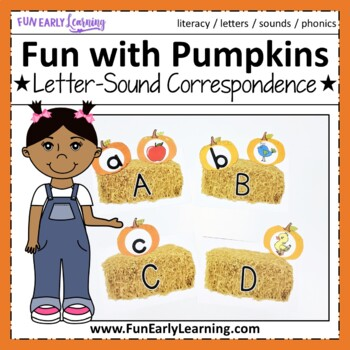 Fun with Pumpkins! Letter Identification & Sound Activity