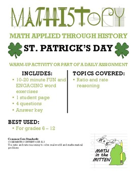 Fun with Ratios and Rates for St. Patrick's Day