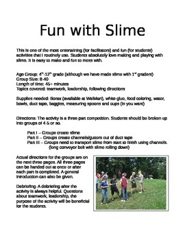 Fun with Slime