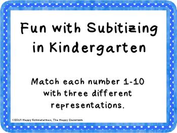 Fun with Subitizing in Kindergarten
