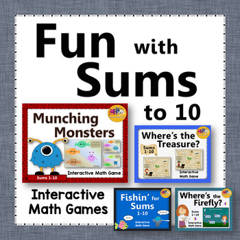 Fun with Sums 1 to 10 - Bundle (Interactive Addition Games)