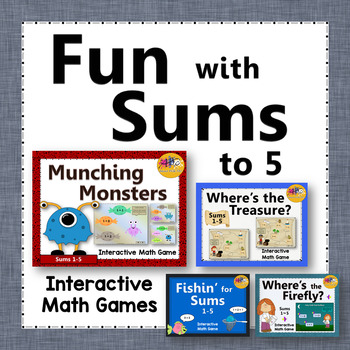 Fun with Sums 1 to 5 - Bundle (Interactive Addition Games)