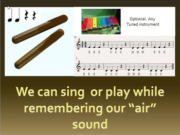 """Fun with phonics and music.  trigraph """"air"""" song and percussion"""