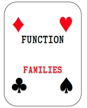 Function Families Deck of Cards