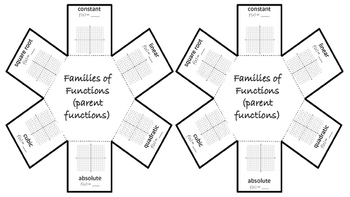 Function Families Foldable for Interactive Notebooks