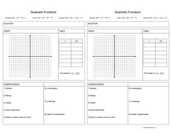 Function Link Sheet Package (24 Half Page Landscape Templates)