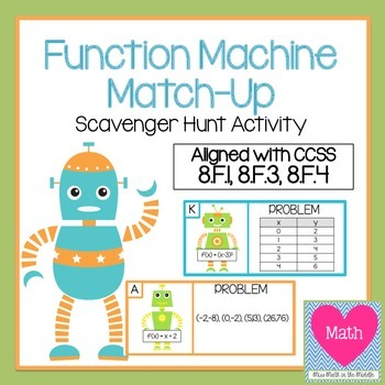 Function Machine Match-Up Scavenger Hunt