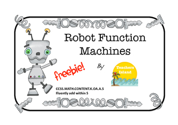 Function Machine Printables - Addition to 5