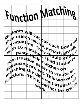 Function Matching (graph, xy chart, and equation)