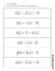 Function Notation Activity and Worksheet