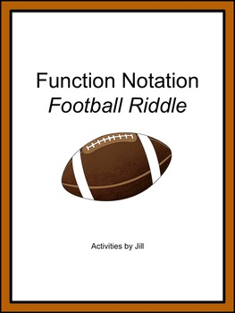 Function Notation Football Riddle