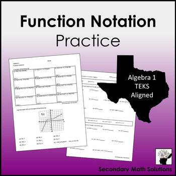 Function Notation Practice