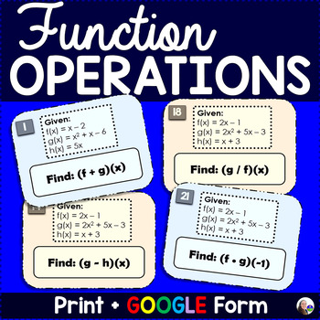 Functions Operations Task Cards